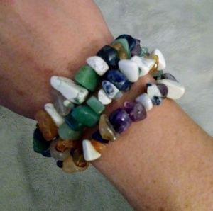 NWOT 3 Straind Stone Peace Bracelet